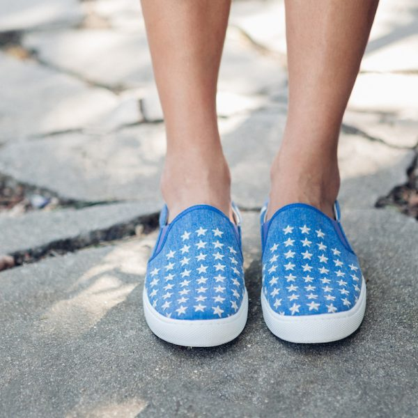 Dancing with Stars denim embroidered Slip-on Sneaker