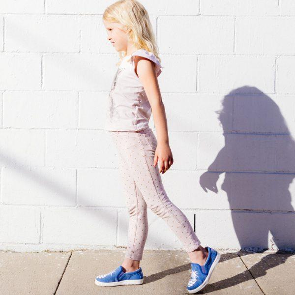 Little Signature Glitter Pineapple Slip-on Sneakers- Denim
