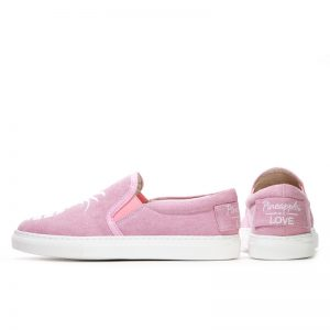 Little Signature Glitter Pineapple Slip-on Sneakers- Pink