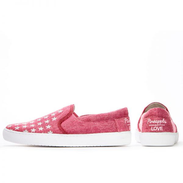 Dancing with Stars embroidered Slip on Sneaker- red