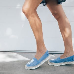 Signature denim glitter pineapple espadrilles