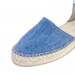 Lace me up blue denim wash espadrilles