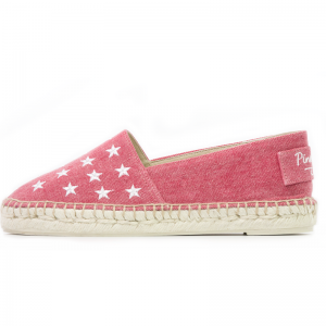 red denim wash espadrilles