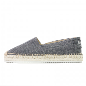 Walking around navy denim wash espadrilles