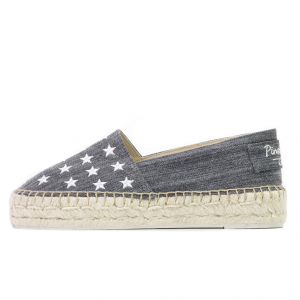 Dancing denim with stars navy espadrilles