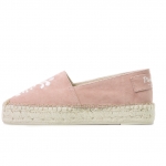 Happy pineapple pink embroidered espadrilles