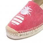 Signature red denim glitter pineapple espadrilles
